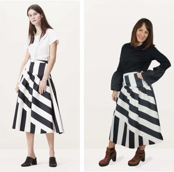 Finery Somerford Stripe Skirt