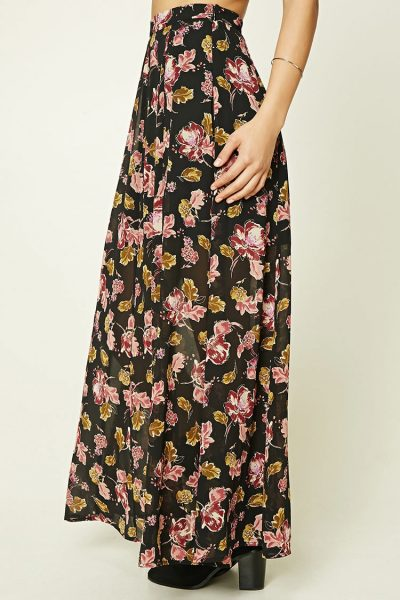 Forever 21 Contemporary Floral Maxi