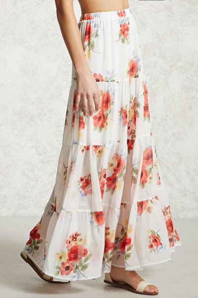 Forever 21 Floral tiered maxi
