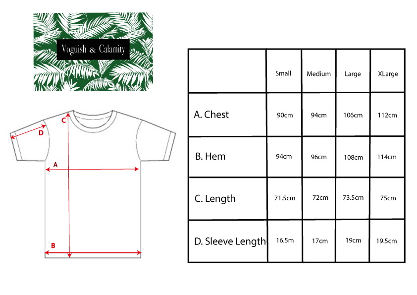 Size Guide Gender Neutral T