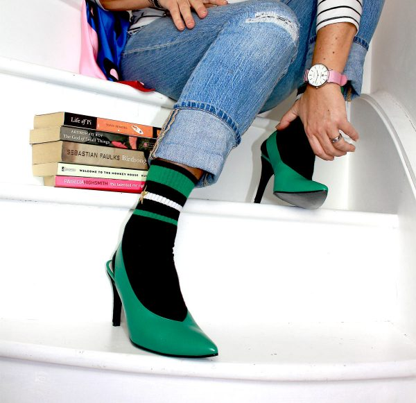 Sosandar Emerald Sling backs